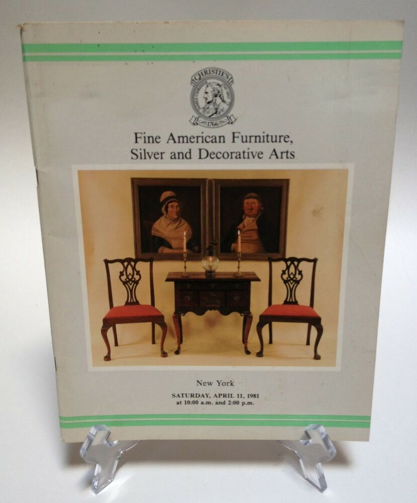 Christies Auction Catalog 1981 Fine American Furniture