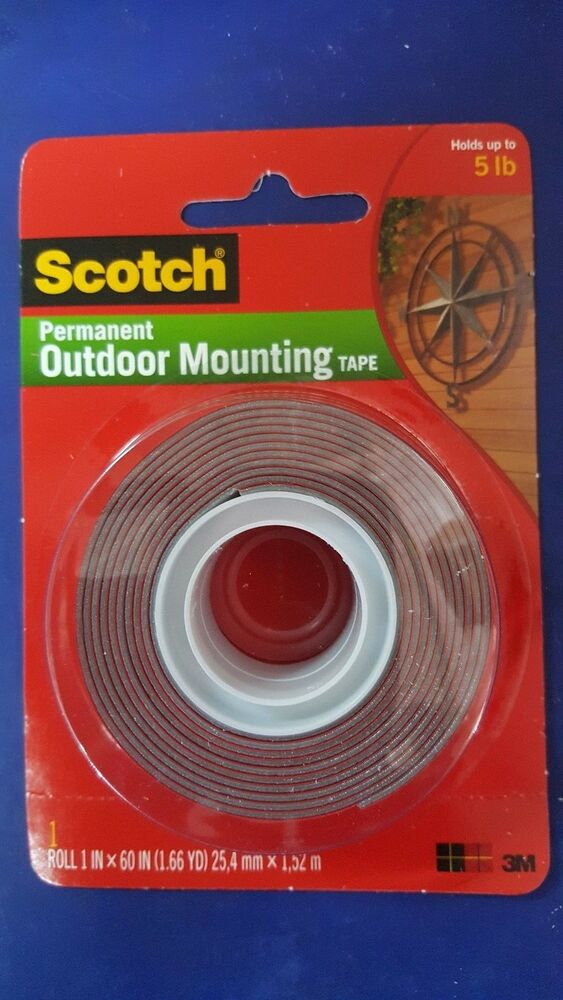 3m Scotch 4607 Permanent Outdoor Mounting Double Sided Tape Holds Upto 5 Lbs Ebay