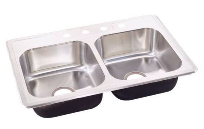 Brand New Sterling 7 Stainless Steel Kitchen Sink Top Mount Ebay