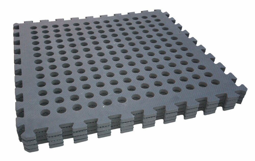 Garage Or Garden Flooring Tiles Black Safety Mats
