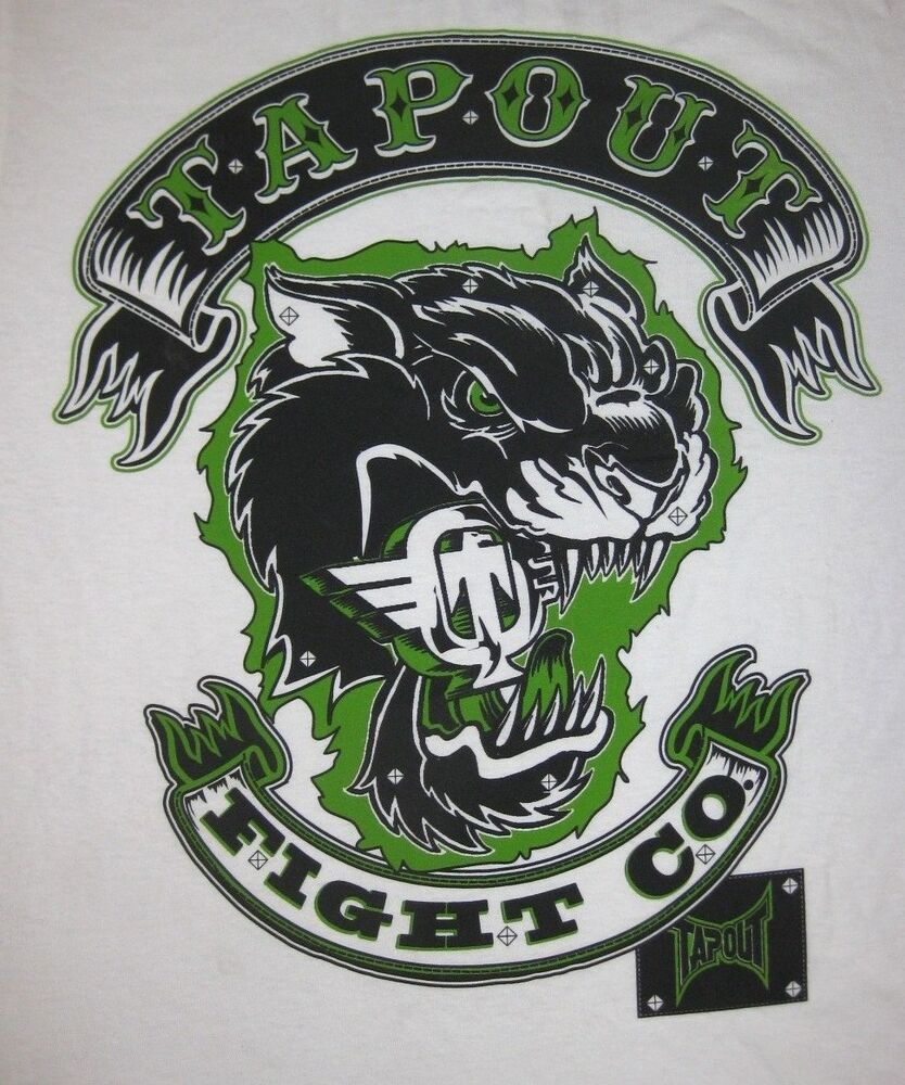 "Ufc Tapout 2: Tapout BIKERS BACK ""FIGHT CO."" 2 Sided Graphic T-Shirt MMA"