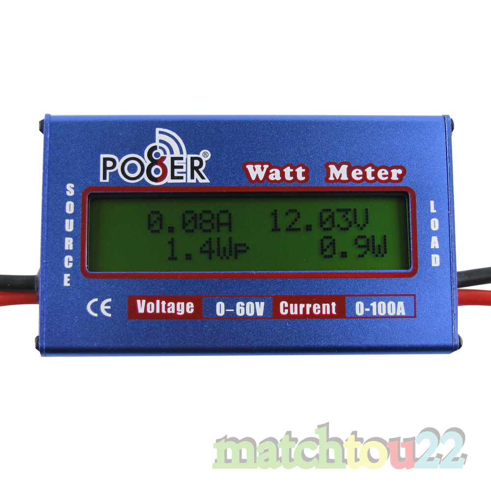 Charger Watt Meter: DC Watt Meter Digital 60V/100A Voltage Battery Analyzer