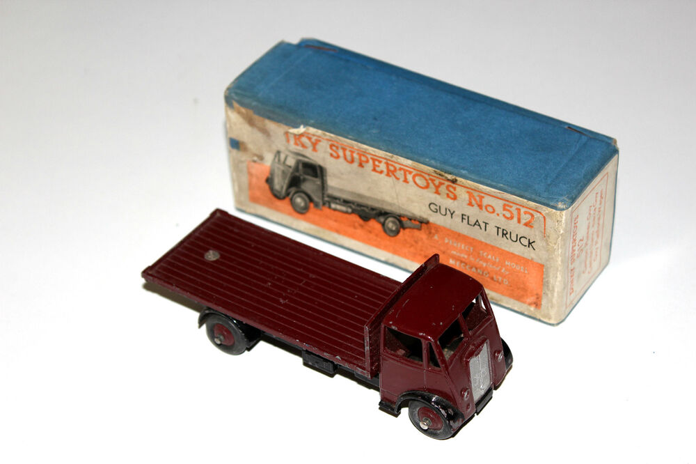dinky toys maroon guy lorry flatbed flat truck 512 boxed rare ebay. Black Bedroom Furniture Sets. Home Design Ideas