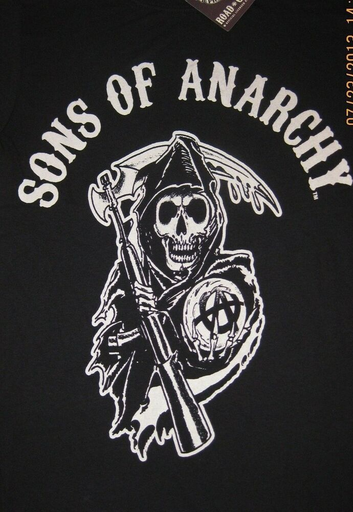 sons of anarchy reaper logo t shirt tee officially. Black Bedroom Furniture Sets. Home Design Ideas