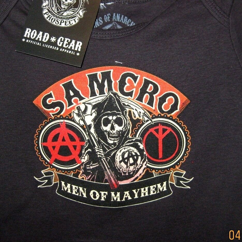 sons of anarchy men of mayhem one piece jumper officially. Black Bedroom Furniture Sets. Home Design Ideas