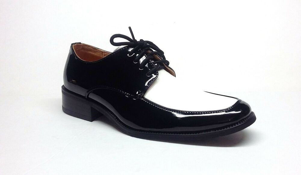 mens tuxedo formal dress shoes patent leather 2 tone in