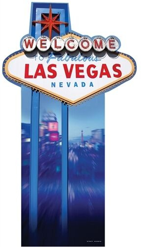 Vegas Sign Cardboard Cutout Figure 188cm Tall Great For Casino Hollywood Parties Ebay