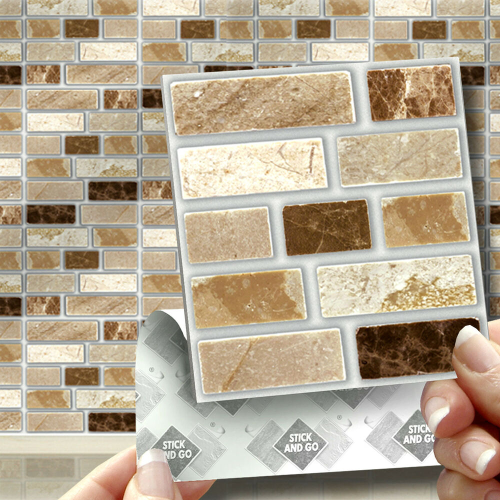 18 peel stick go stone tablet self adhesive wall tiles - Imitation faience adhesive ...
