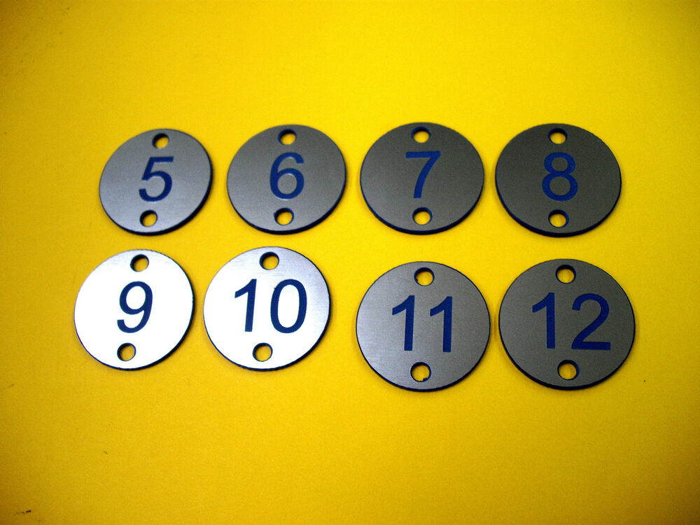 Engraved Locker Table Numbers Numbered Tags Discs