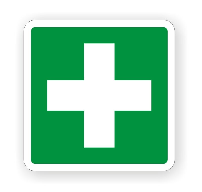 First Aid Vinyl Decal Sticker Label Camper Van 4x4