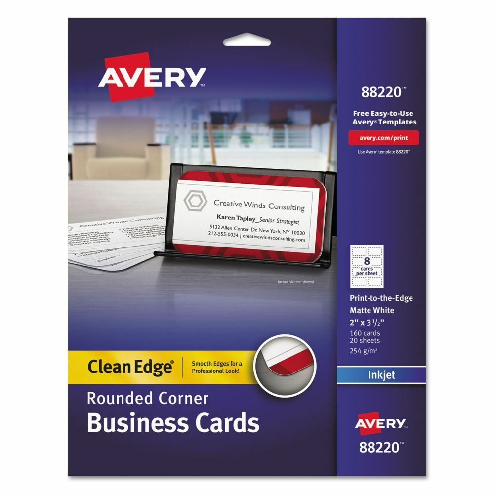 Avery Rounded Clean Edge Business Cards AVE