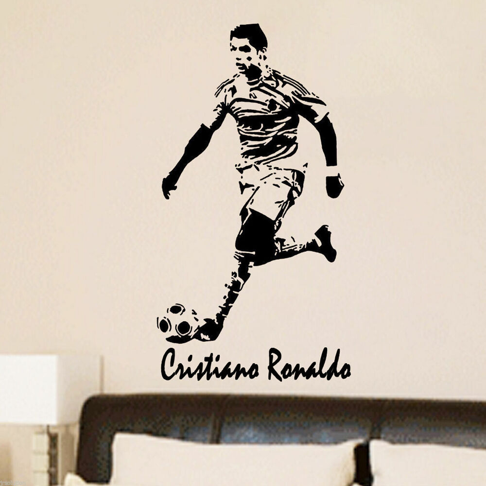 Pochoir mural feather wall stencil reusable feather decorative cristiano ronaldo football action vinyl stickers stencil mural decal poster name ebay gumiabroncs Gallery