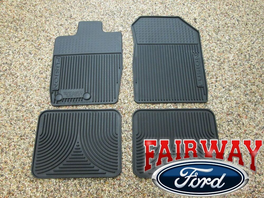 Late 10 11 12 Fusion Oem Genuine Ford Rubber All Weather