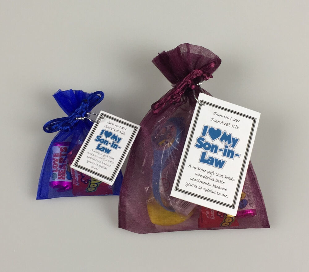 Son in law survival kit novelty fun thoughtful birthday for Mother in law house kit