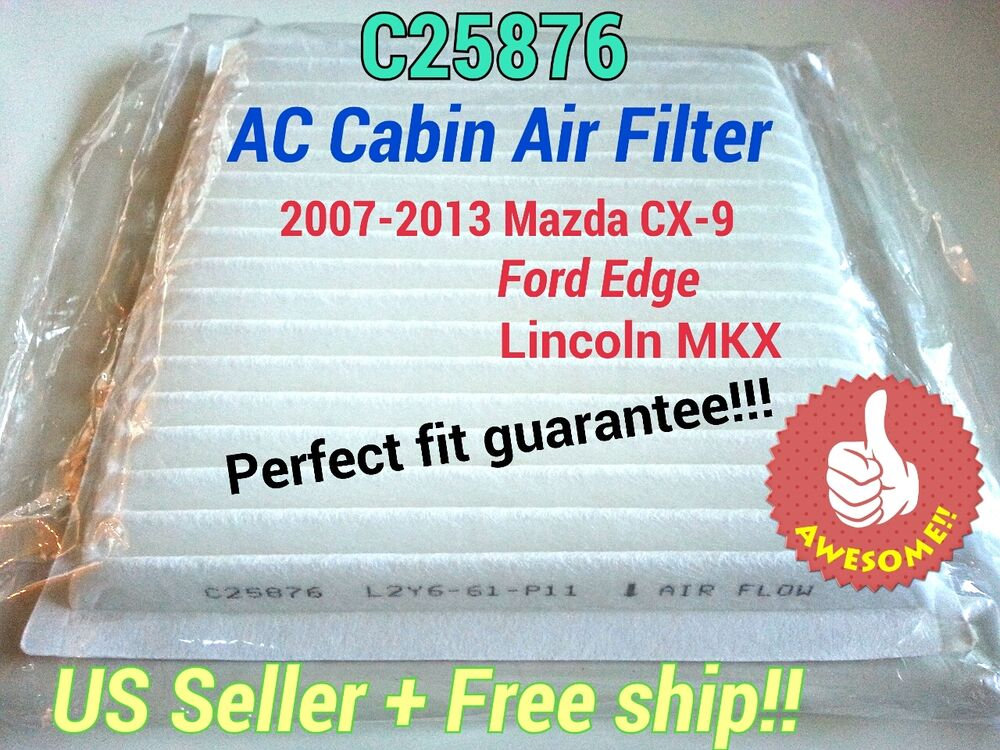 c25876 ac cabin air filter for 2007 2014 mazda cx 9 ford. Black Bedroom Furniture Sets. Home Design Ideas