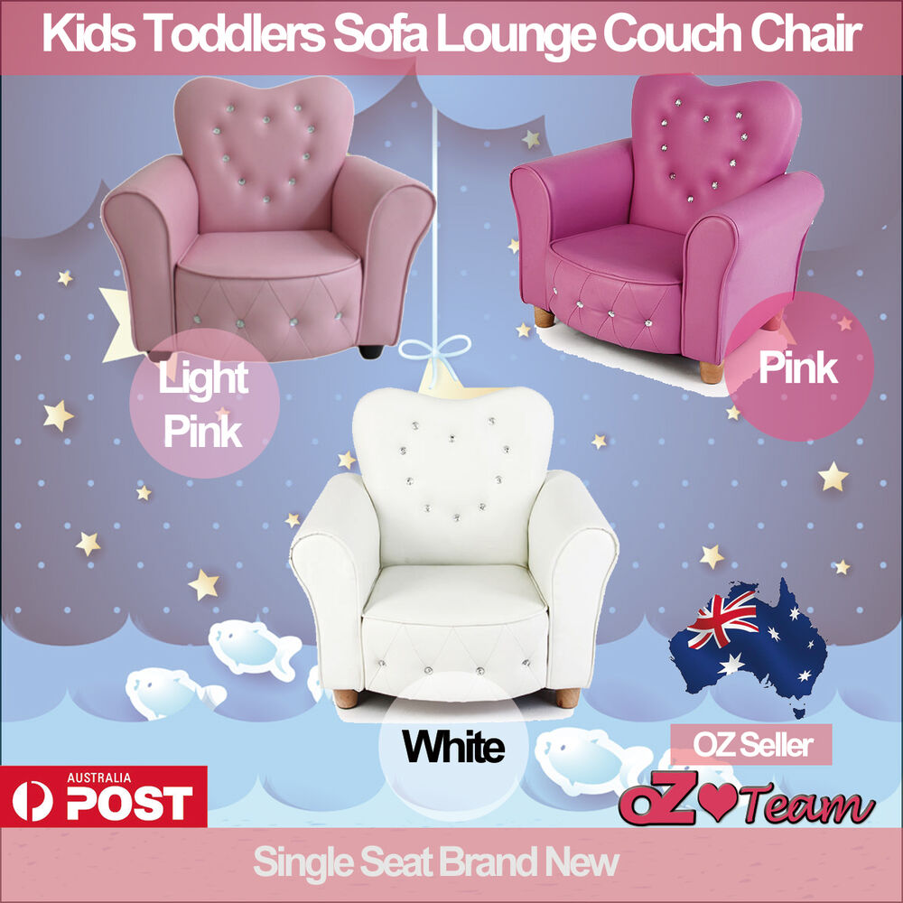 Kids Toddlers Sofa Lounge Couch Chair Single Seat Brand
