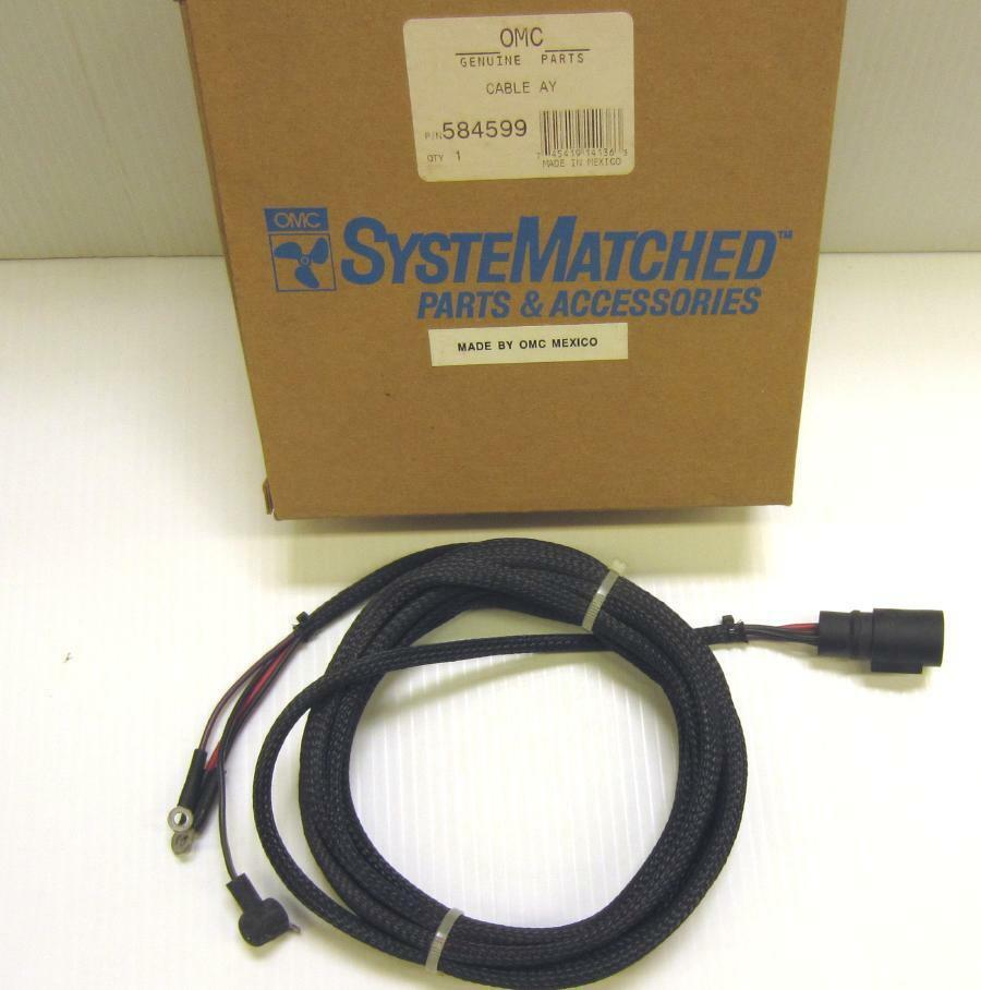 New 584599 Evinrude Johnson Ignition Switch Wiring Harness