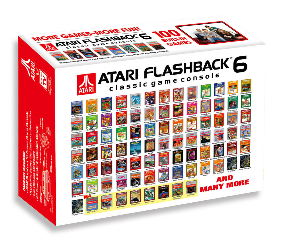 Atari flashback 6 console with 100 built in games aus new - Atari flashback 3 classic game console ...