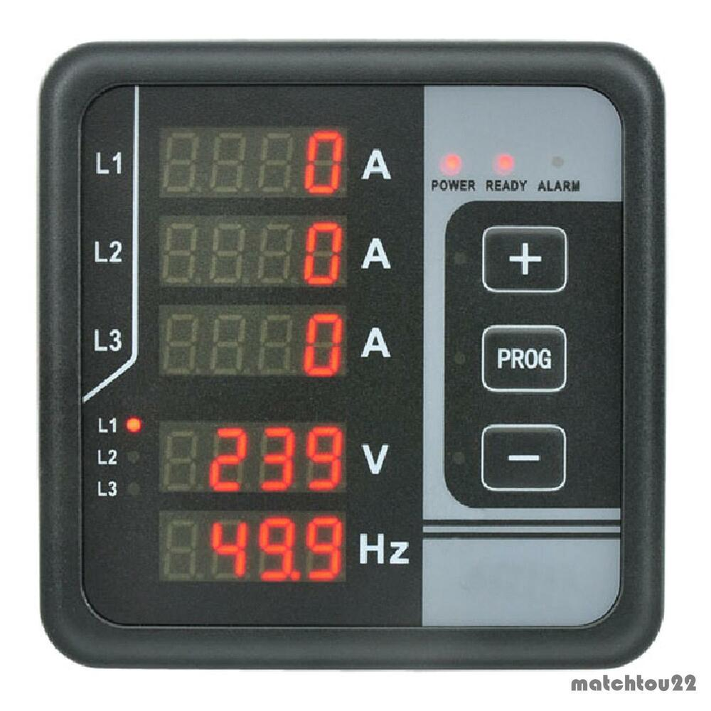 Ac Panel Meters : Multi functions digital panel meter phase ac voltage