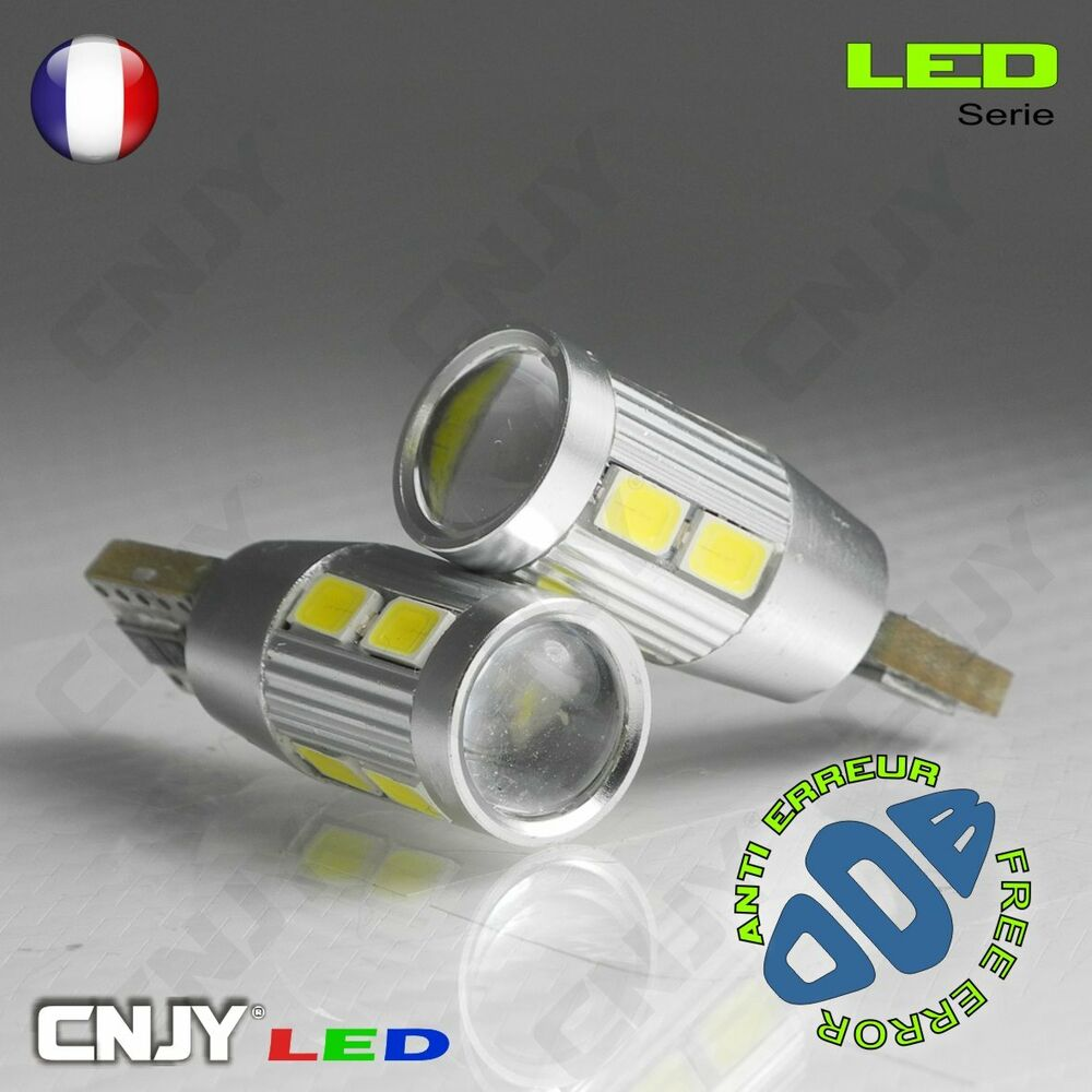 2 ampoules nikkon 10led smd t10 w5w blanc anti erreur odb canbus puissante 12v ebay. Black Bedroom Furniture Sets. Home Design Ideas