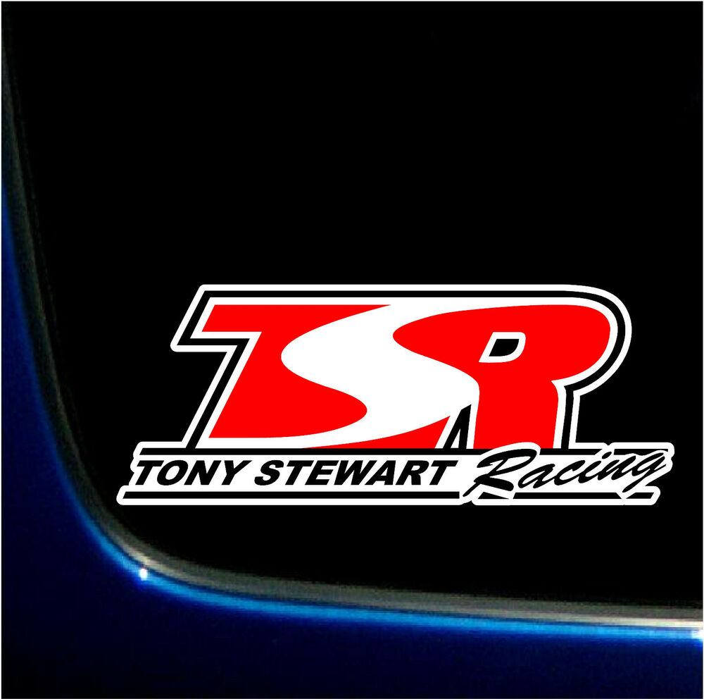 tony stewart racing world of outlaws printed decal sticker haas nascar 3 2 x 8 5 ebay. Black Bedroom Furniture Sets. Home Design Ideas