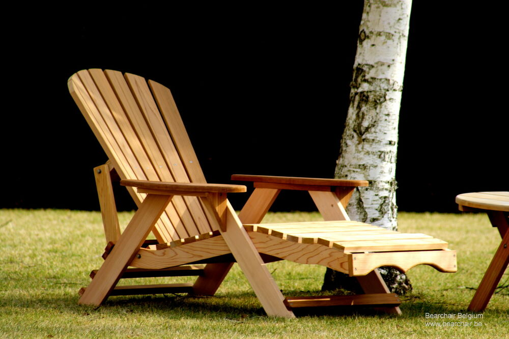 1 Bear Chair Bc700c Red Cedar Adirondack Chaise Lounge