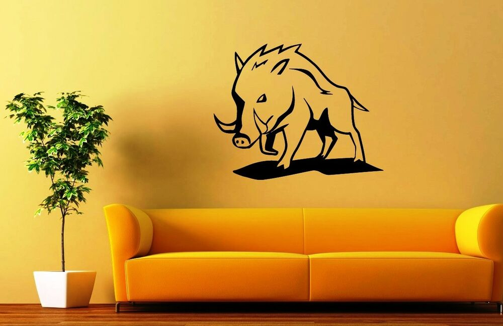 Nature Wall Decor Stickers : Wall stickers vinyl decal wild boar animal nature fauna