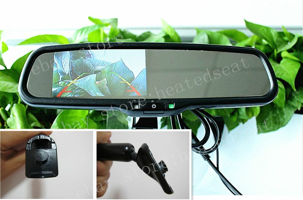 rear view mirror with 4 3 camera display fits honda accord civic insight fit etc ebay. Black Bedroom Furniture Sets. Home Design Ideas