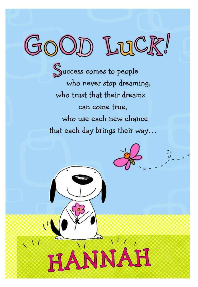 personalised a5 good luck card leaving university new job