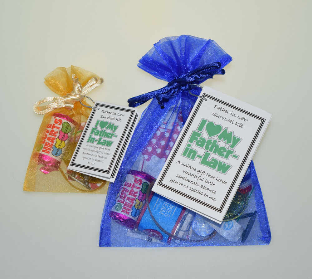 Father in law survival kit keepsake fun birthday christmas for Thoughtful gifts for dad from daughter
