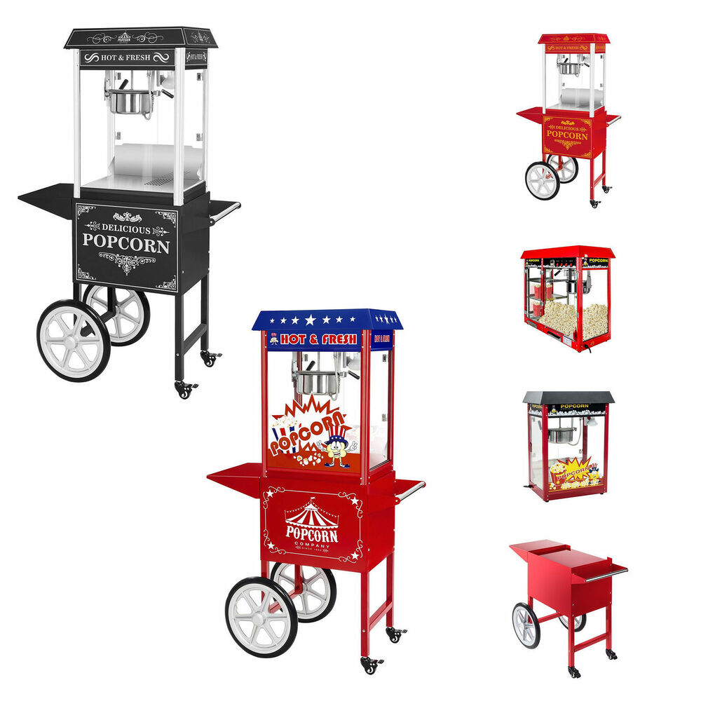 popcornmaschine popcornautomat popcornmaker popcorn maschine wagen us design rot ebay. Black Bedroom Furniture Sets. Home Design Ideas