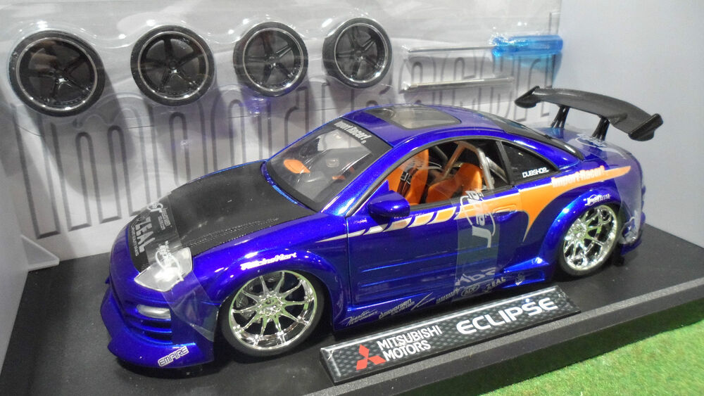 mitsubishi motors eclipse tuning bleu 1 18 jadatoys import racer 63254 voiture ebay. Black Bedroom Furniture Sets. Home Design Ideas
