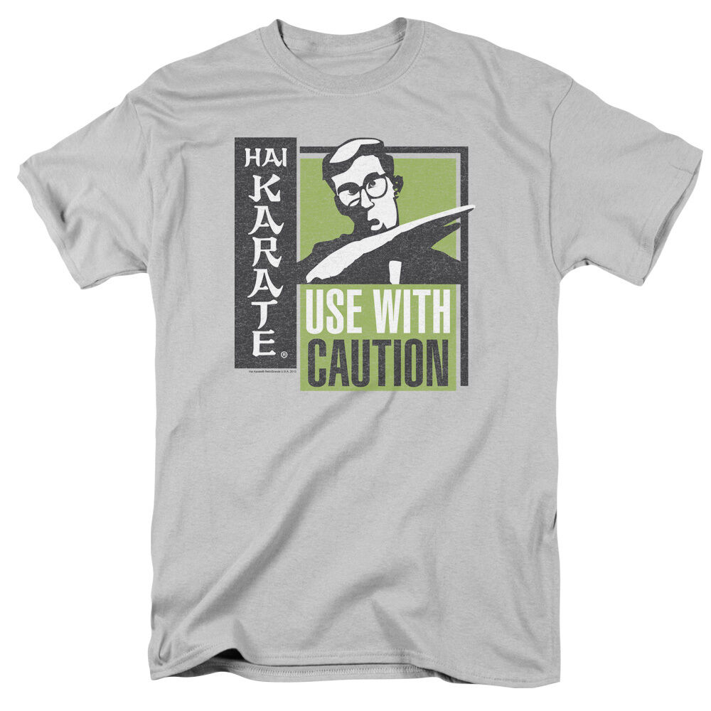 Hai karate cologne karate chop use with caution licensed tee shirt s