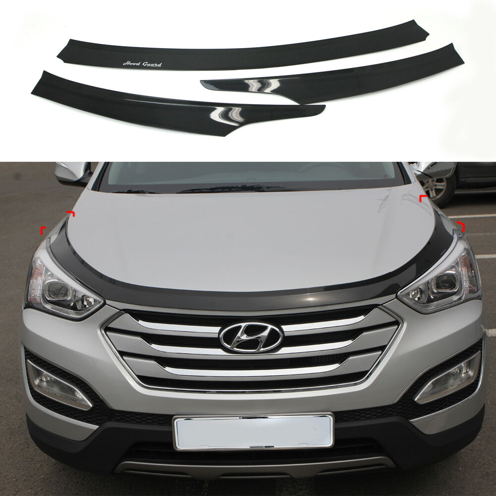 2011 Hyundai Santa Fe Exterior: Bug Shield Guard Hood Protector Deflector Ventshade For 13