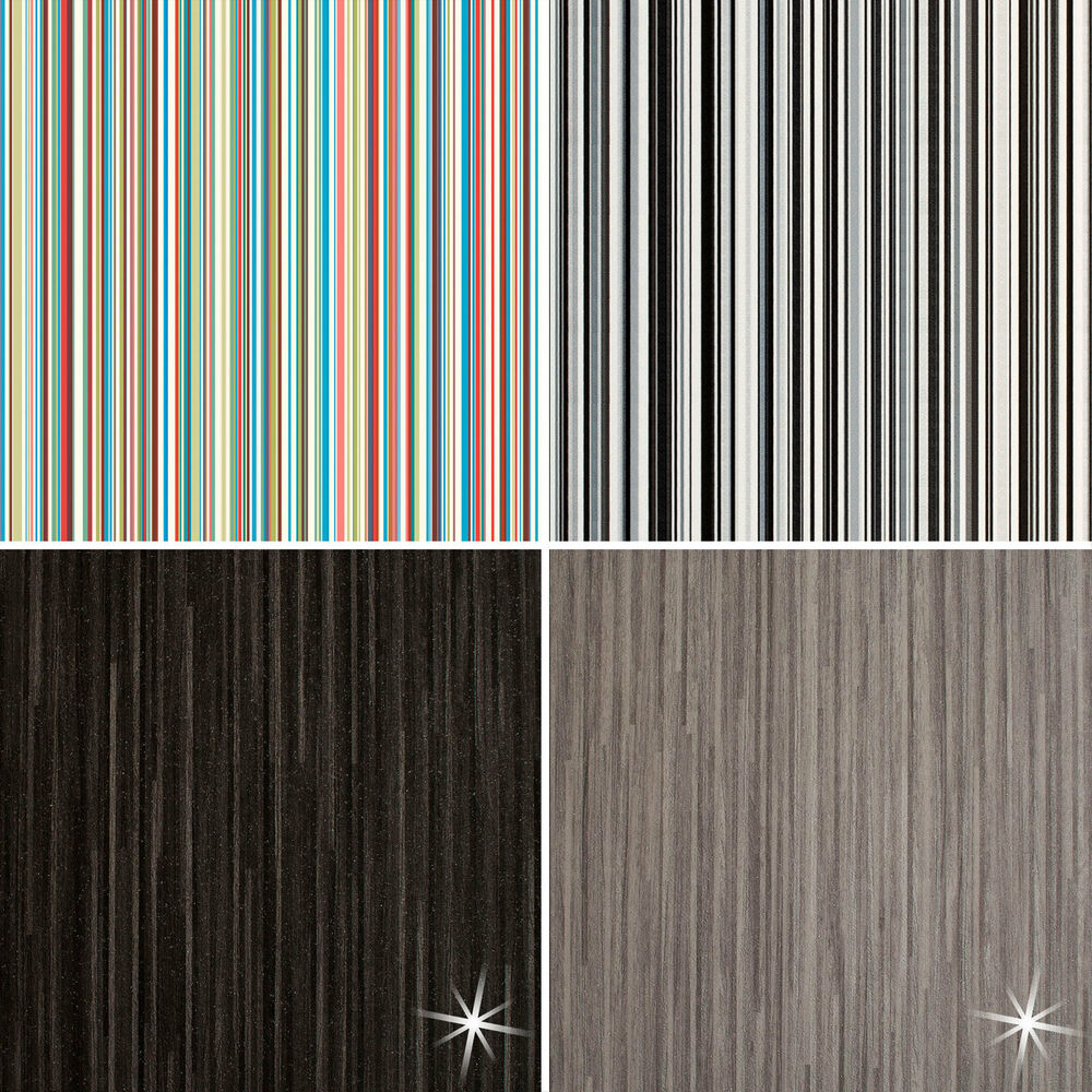Quality modern stripe vinyl flooring roll cheap kitchen bathroom 2m 3m 4m ebay - Vinyl deck tiles ...