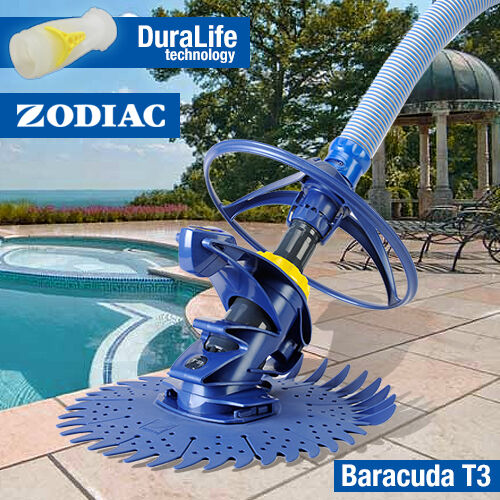 Zodiac T3 Baracuda Pool Cleaner Above In Ground Wall Climber Ebay
