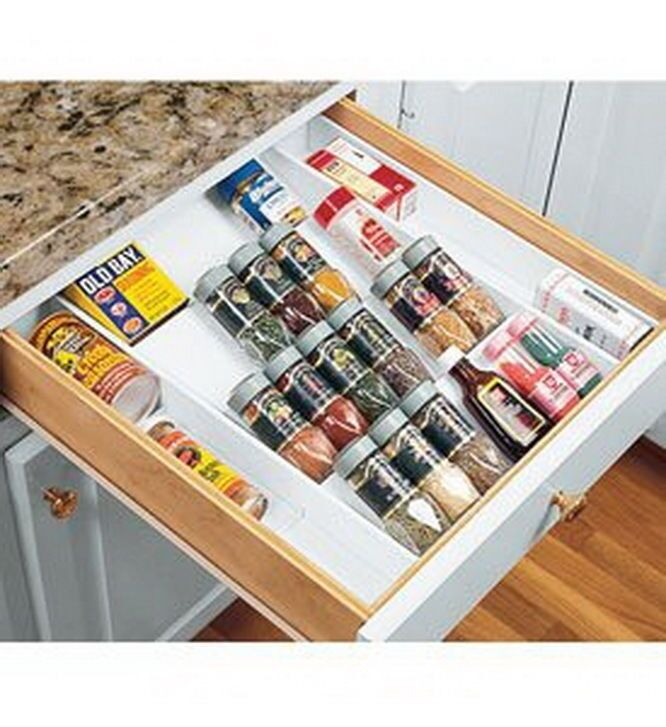 New Expand A Drawer Spice Organizer Holds Up To 36 Bottles Ebay