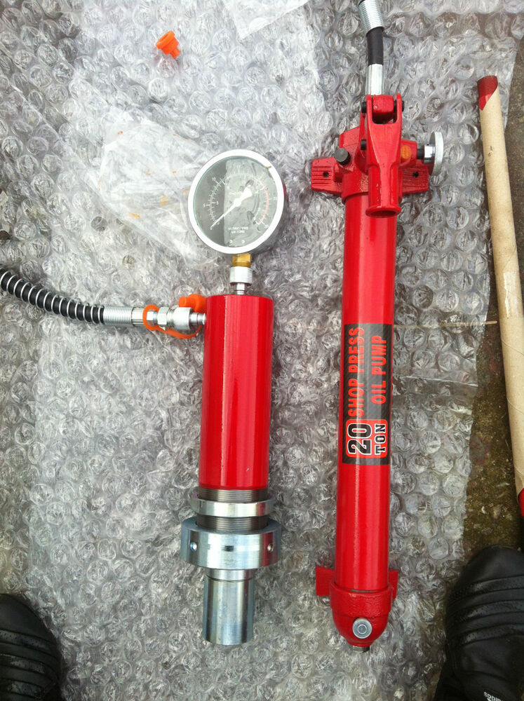 20 Ton Hydraulic Cylinder For Shop Press With Manometer