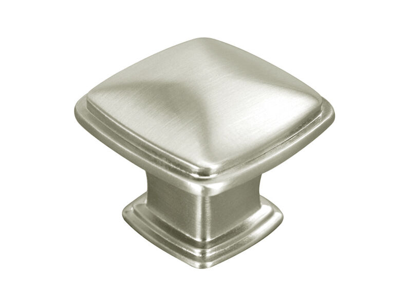 Satin nickel or brushed nickel kitchen cabinet square for Brushed nickel hardware for kitchen cabinets
