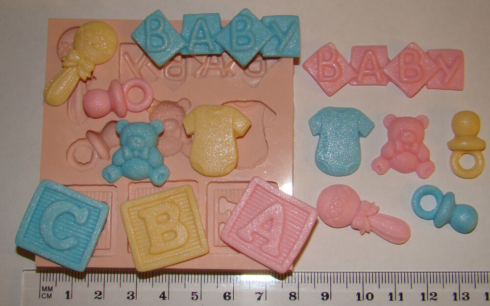 Cake Decorations Letter Blocks : SILICONE MOULD ABC BABY LETTER BLOCKS TEDDY RATTLE VEST ...