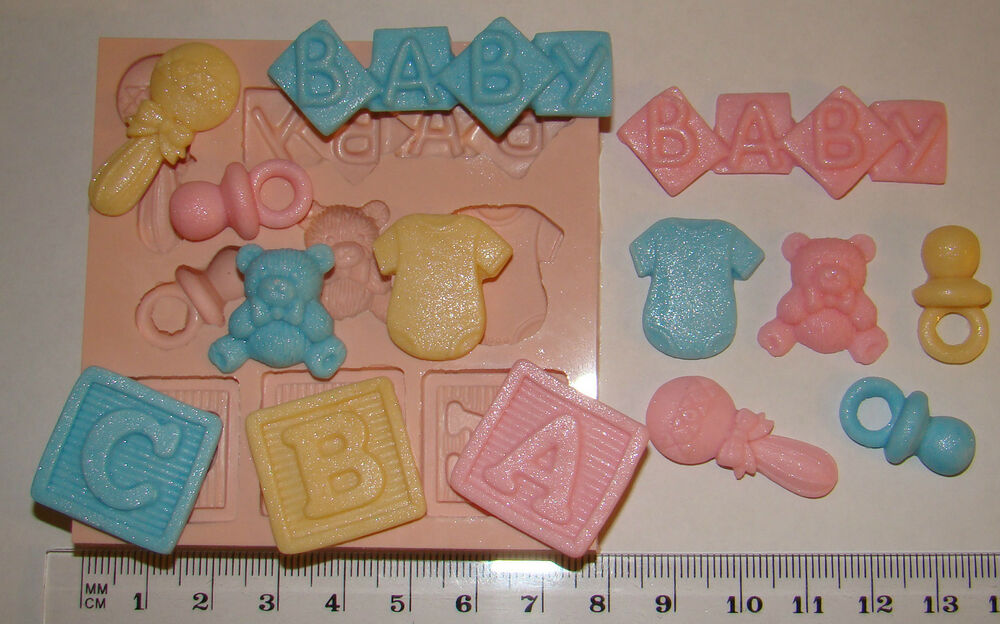 Cake Decorating Letter Blocks : SILICONE MOULD ABC BABY LETTER BLOCKS TEDDY RATTLE VEST ...