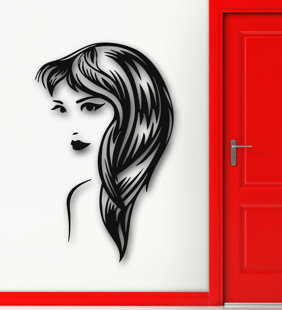 wall stickers vinyl decal hot sexy girl hair beauty spa. Black Bedroom Furniture Sets. Home Design Ideas