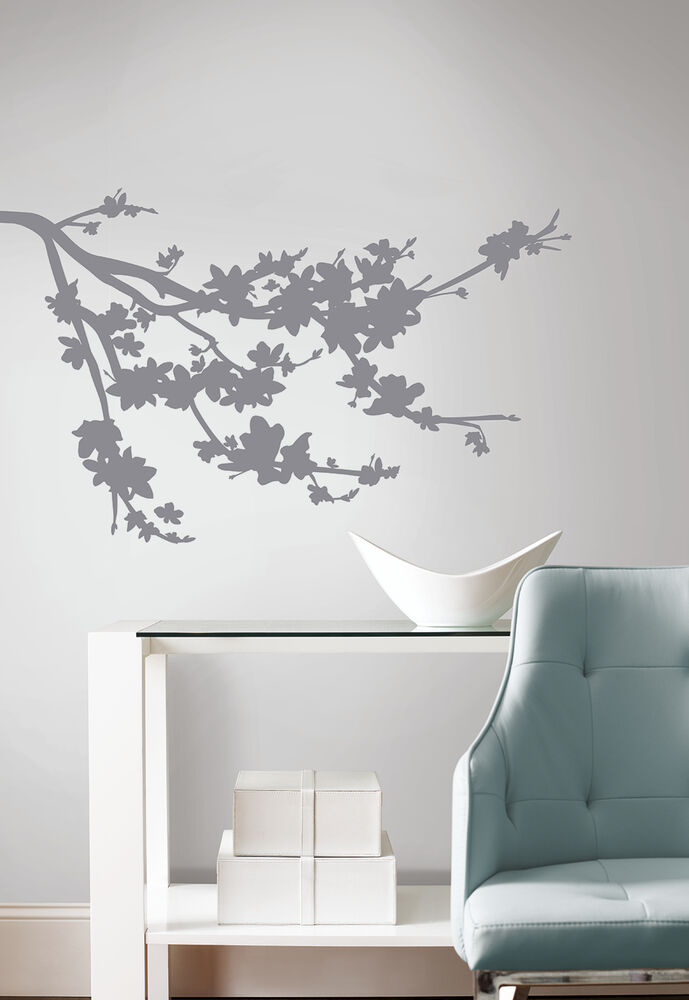 Gray Branch Silhouette Wall Decals New Tree Branches