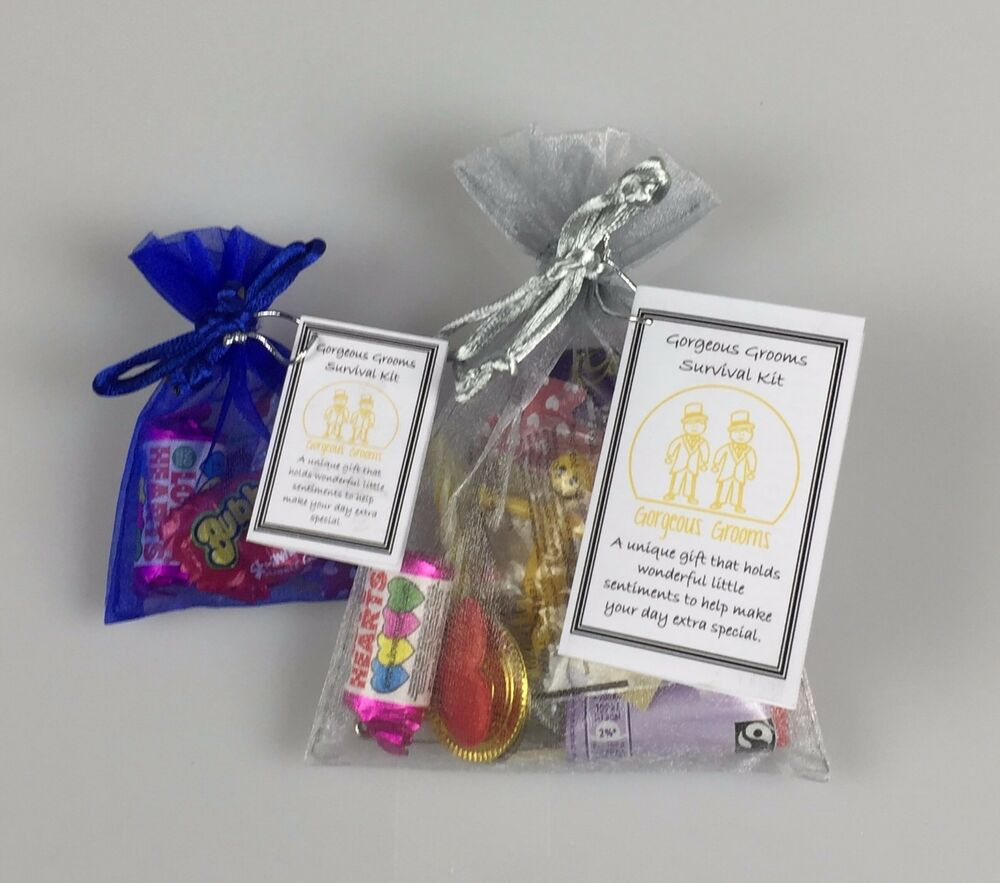 Gorgeous Grooms Survival Kit Novelty Fun Sentimental Wedding Gift or ...
