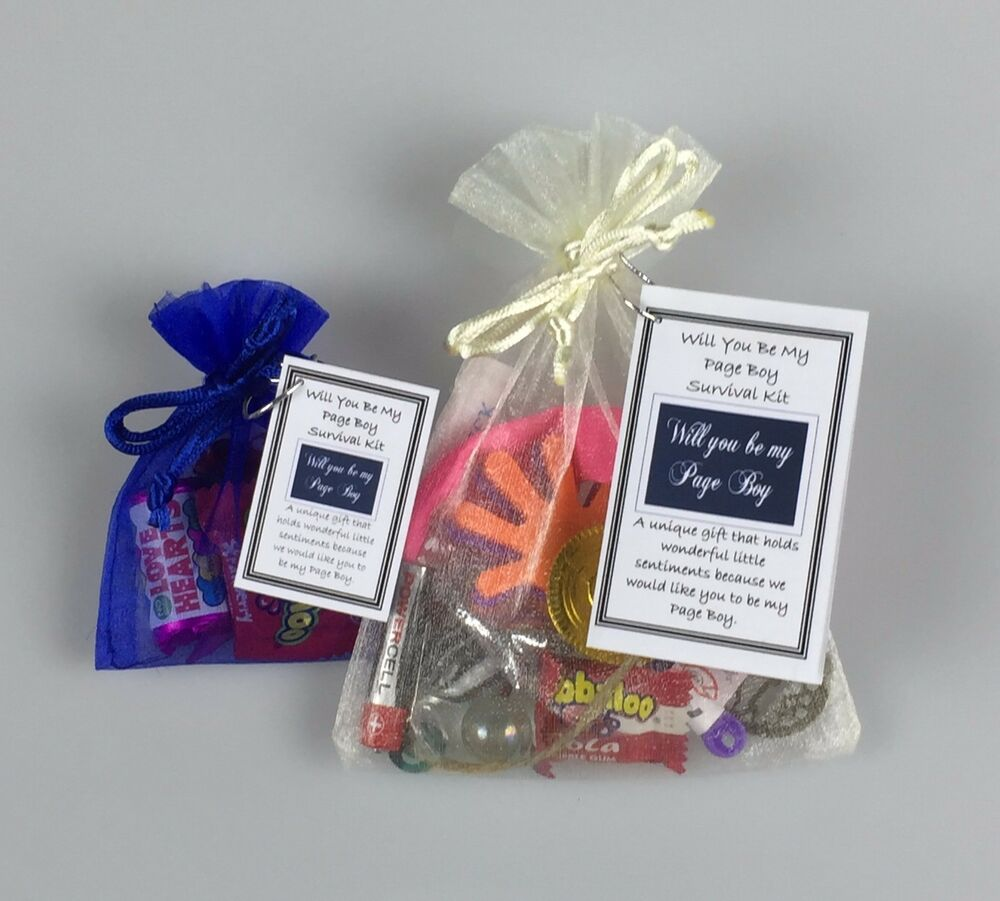 Sentimental Wedding Gift Ideas: Will You Be My Page Boy Survival Kit Novelty Sentimental