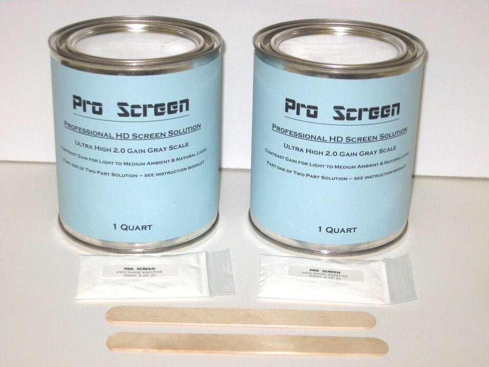 2 quart can hd projector projection screen paint for Paint projector screen