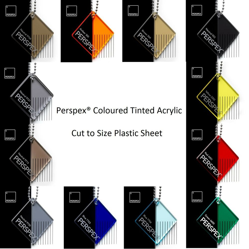 Genuine Coloured Tinted Perspex Cast Acrylic Sheets 3mm