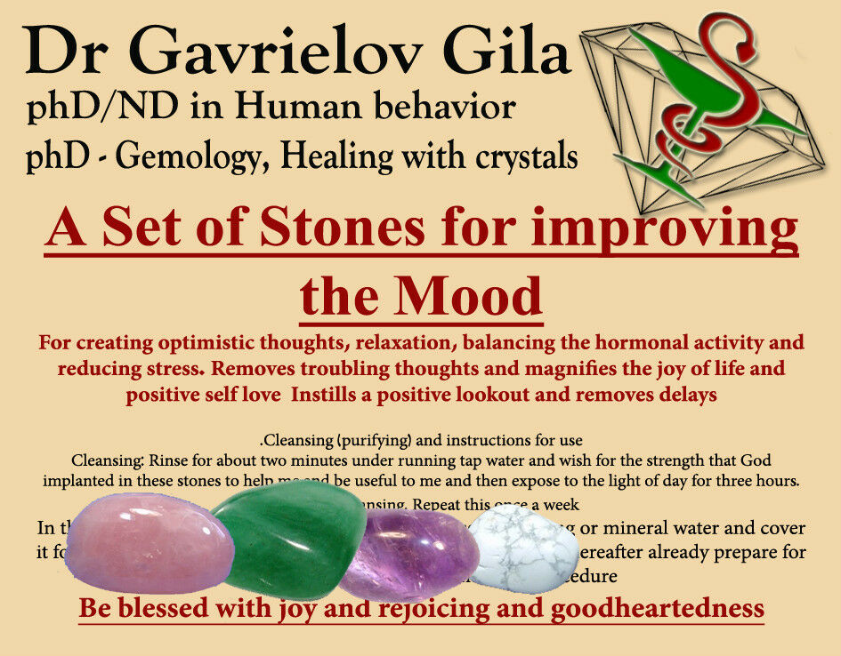 Set The Mood For Everything: A Set Of Natural Healing Crystals Stones For Improving The