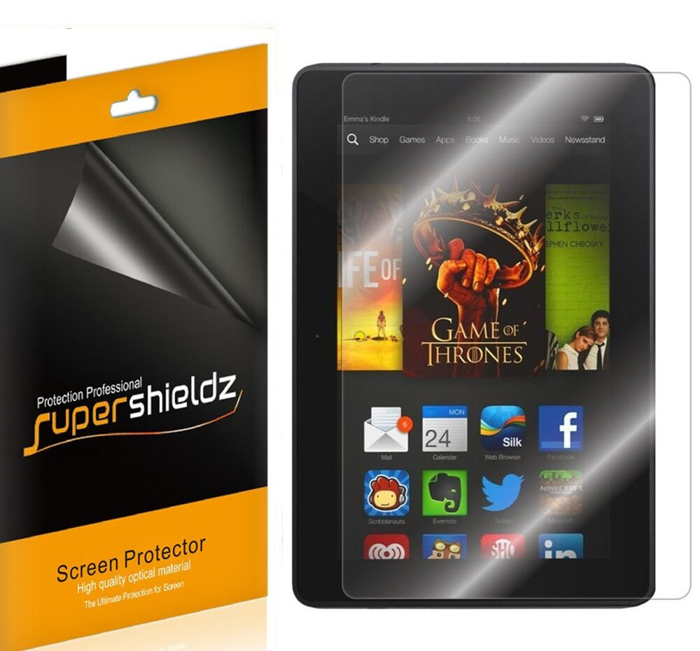 3x supershieldz hd clear screen protector shield for amazon kindle fire hdx 7 7 692754052161 ebay. Black Bedroom Furniture Sets. Home Design Ideas