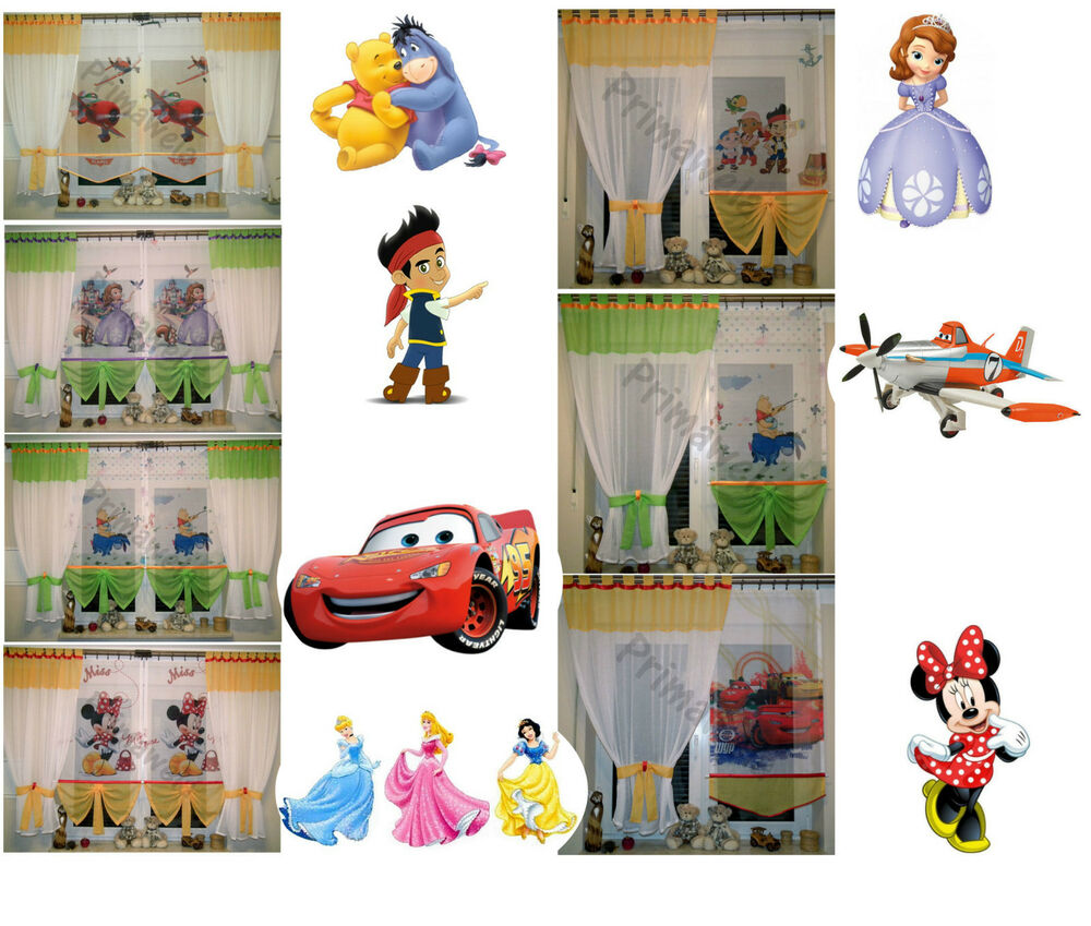 disney gardine kindergardine kinderzimmer baby gardine vorh nge ebay. Black Bedroom Furniture Sets. Home Design Ideas